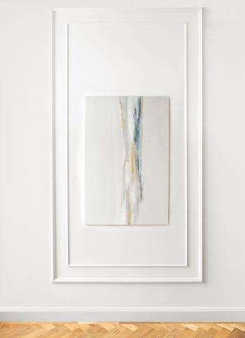 Obraz akrylowy ręcznie malowany na płótnie bawełnianym, zabezpieczony matowym werniksem.Obraz pochodzi z serii Abstrakcja.