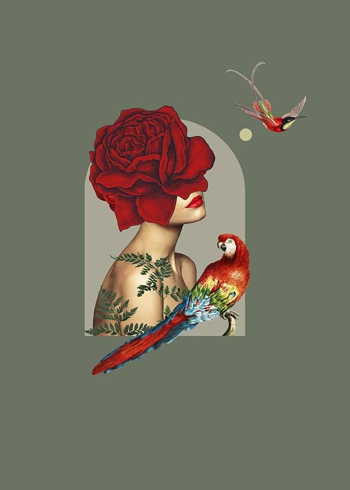 Kolaż El Rosedal, Plakat Autorski - 1
