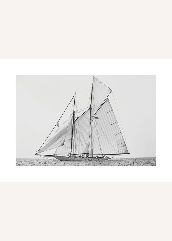 Jacht Å»aglowy na Morzu, Plakat - 1