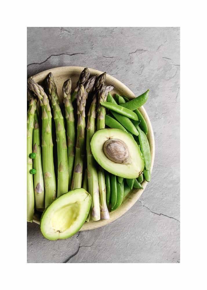 Zielone Warzywa W Misce, Plakat - 1