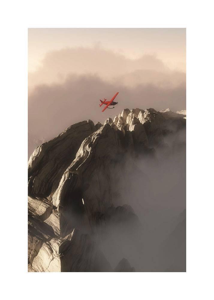 Czerwony Samolot Nad Górami, Plakat - 1