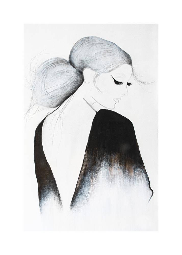 Zmysłowa Kobieta, Plakat Mermer Art - 1