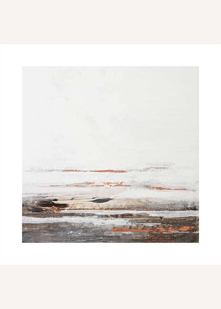 Miedziana abstrakcja No.1, Plakat Mermer Art - 1
