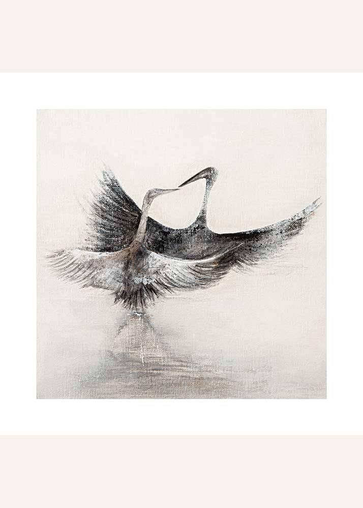 Zakochane żurawie, Plakat Mermer Art - 1