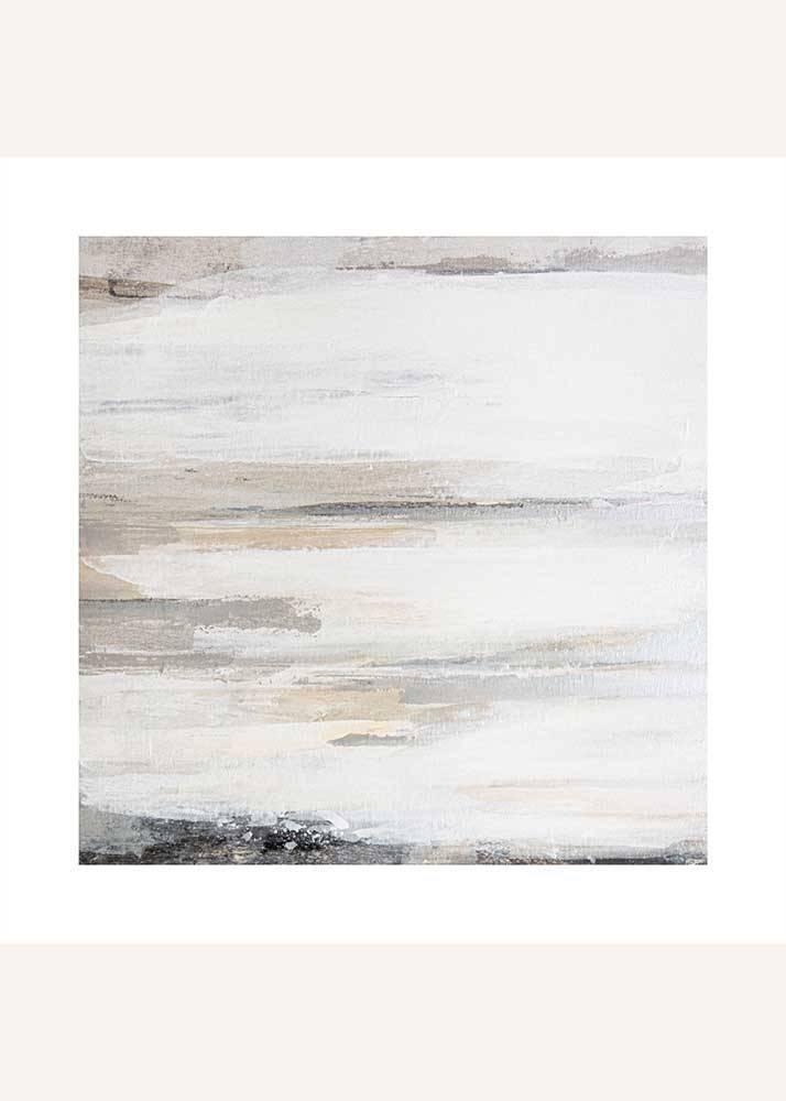 Beżowa Abstrakcja No.1, Plakat Mermer Art - 1