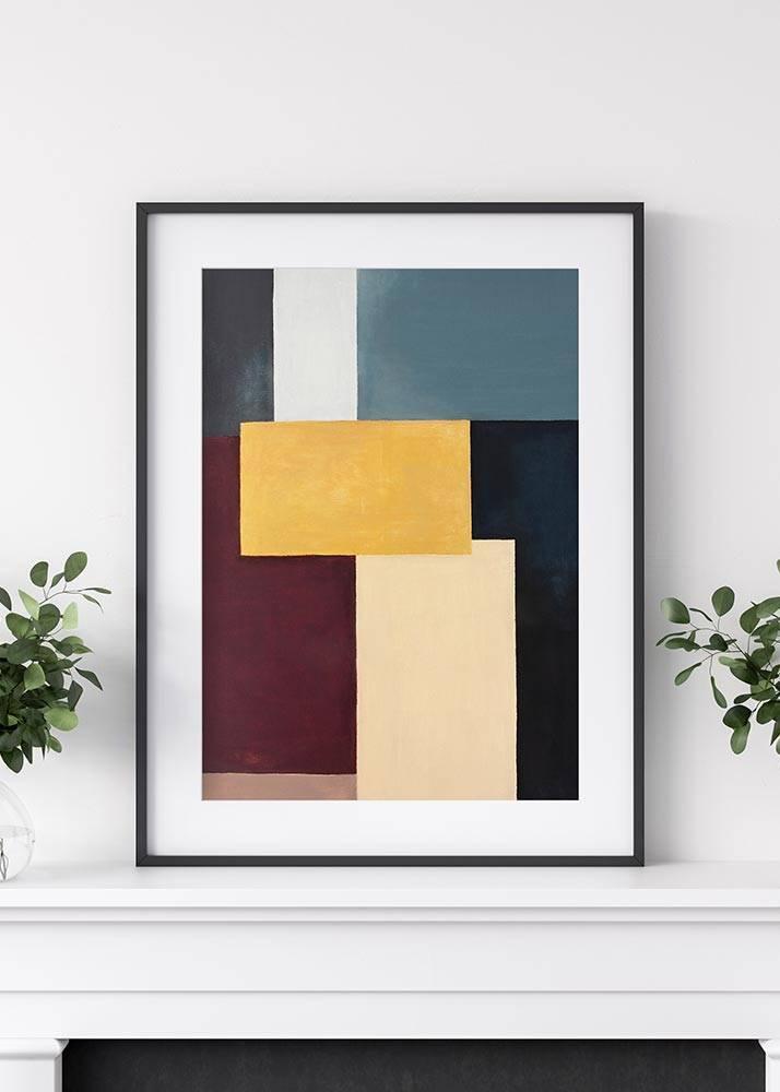 Wzór geometryczny No.1, Plakat Mermer Art - 1