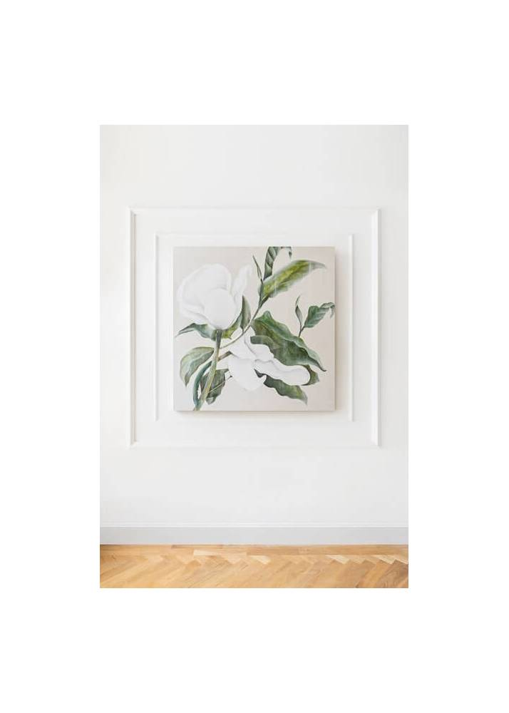 White Peonies Flowers 3, Obraz Na Płótnie - 1